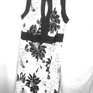 Elegance Black And White Dress by S L Fashions